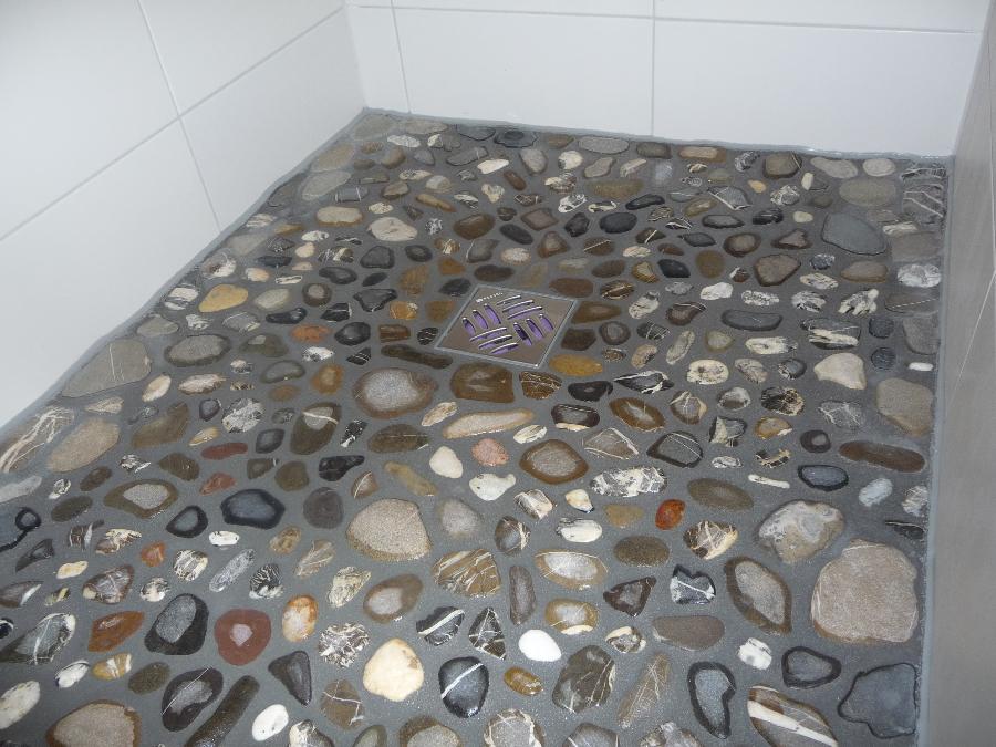Kieselsteine im bad